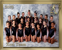Xcel Team 2019 Team Photo gold border