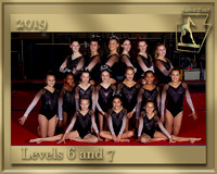 Levels 6 and 7 2019 Team Photo gold border