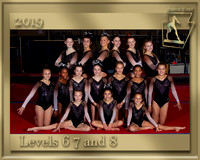 Levels 6  7 and  8  2019 Team Photo gold border
