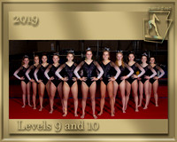 Levels 9 and 10  2019 Team Photo gold border
